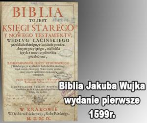 Biblia Jakuba Wujka 1599