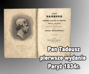 Pan Tadeusz 1834r.