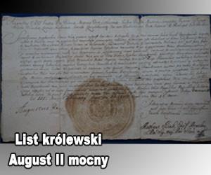 list królewski August II Mocny
