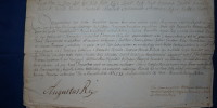 list królewski August II Mocny 2/1