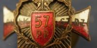 Miniaturka odznaki pułkowej 57 Pułk Piechoty