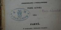 Poezje tom II Adam Mickiewicz Paryż 1838