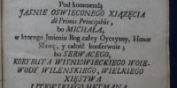 Woysko serdecznych affektów 1739 rok Hilarion Falęcki