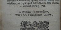 Woysko serdecznych affektów 1739 FALĘCKI j.polski
