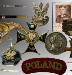 militaria szable kordziki bagnety odznaki medale orzełki dokumenty