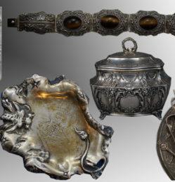 srebra, platery, złoto