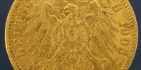 złota moneta 20 marek 1905